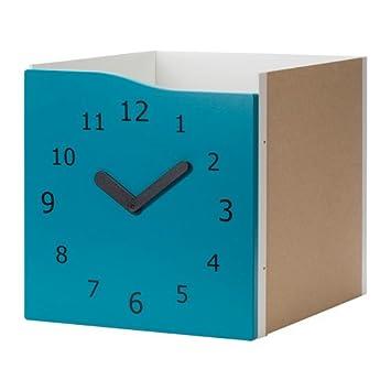 IKEA Kallax - Introducir con la puerta de la turquesa de la decoración / reloj: Amazon.es: Hogar