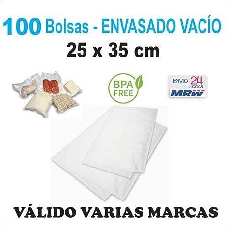 100 Bolsas gofradas para envasadora vacío de 25x35 cm. Para ...