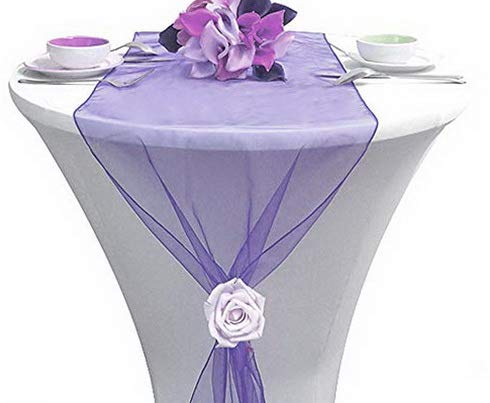 Gatton Pack of 10 ding 12 x 108 inch Organza Table Runners for ding Banquet Decor Dining Room Table Runner- Lavender | Model WDDNG - 1187 | 10