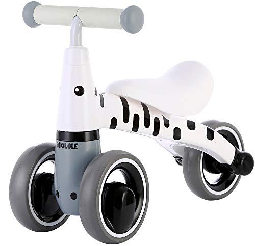 Baby Balance Bike 10 24 Months | Fun Animal Themes | 1 Year Old Girl Gifts | Ideal First Birthday (Zebra Bike)