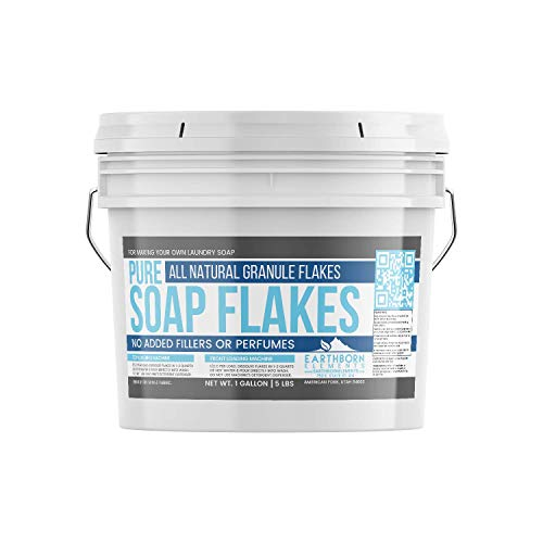 Pure Soap Flakes (1 Gallon (5 lbs)) by Earthborn Elements, Ingredient to Make Liquid or Powdered Homemade Laundry Detergent for Cleaning (Best Bar Soap For Homemade Laundry Detergent)
