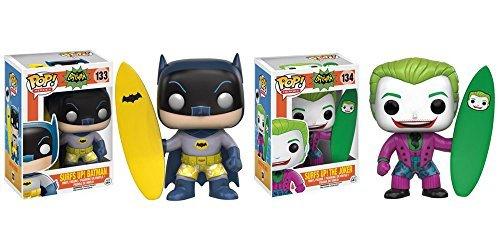 Batman Classic 1966 TV Series Surf's Up Batman, Surf's Up Joker Pop! Vinyl Figures Set of 2 (Batman Classic Tv Series Figures Wave 3)