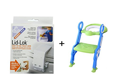 Toilet seat childproof one lid-lok and one potty seat for