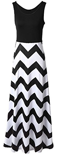 Demetory-Womens-Boho-Empire-Chevron-Tank-Top-Casual-Maxi-Long-Dress