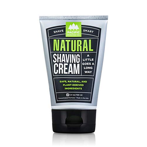 Pacific Shaving Company Natural Shaving Cream, 3.4 Ounces, 1 Pack