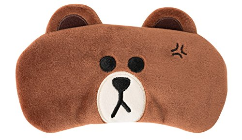 LINE FRIENDS Brown Soft Sleep Mask Comfortable Eye Shade One Size Brown