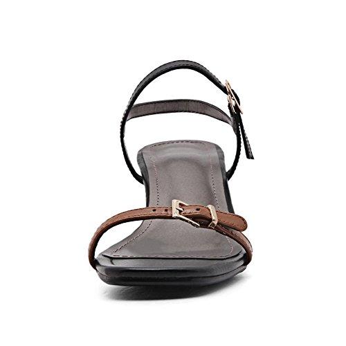 AdeeSu Womens Non-Marking Cold Lining Dress Urethane Sandals SLC03894 Brown qqXeePYFDo