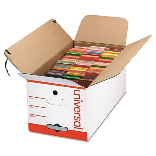 Universal Economy Storage Box, Tie Close, Letter, Fiberboard, White, 12 per Count (75120)