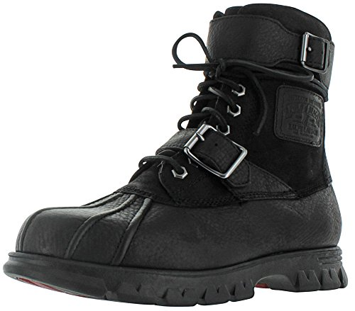 Polo Ralph Lauren Men's Drax Boot, Black/Black, 10.5 D - Polo Men Lauren Boots Ralph