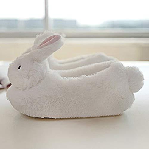 12 Chiuso Di Animali Antiscivolo Per Happy Cotone Da Animato La Donna Bunny Simpatico Scarpe Casa Outdoor Indoor Invernali Cartone Pantofola Minetom Pantofole U4gqAg