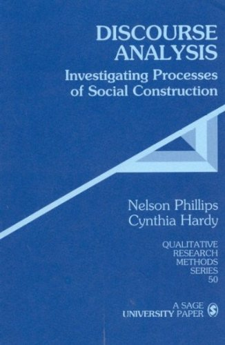 Read Online Discourse Analysis: Investigating Processes of Social Construction: 1st (First) Edition pdf