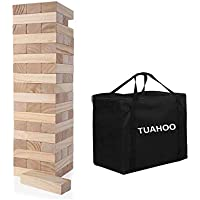 TUAHOO Giant Tumble Tower Games Wooden Blocks Stacking Game for Adult, Kids, Family Outdoor Backyard Games