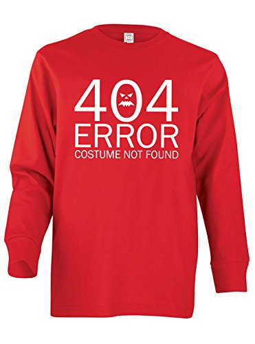 Dancing Participle Boy's Youth 404 Error Costume Not Found Long Sleeve T-Shirt, Large, (Comedy Of Errors Costumes)