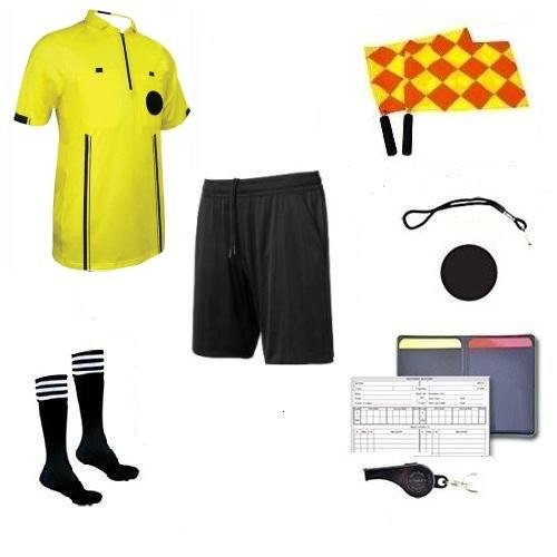 Soccer Premium Referee 9 Piece Package (Gold, A - Soccer Gold Uniform