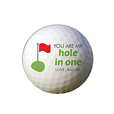 GiftsForYouNow You Are My Hole in One Personalized Golf Ball Set