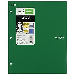 Five Star Binder Pocket Folder, Stay-Put 2-Pocket Folder, 9-1/2\