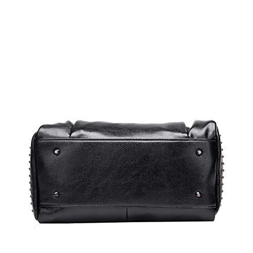 à Rivets Bandoulière Main Portable En Messenger De Grey Sac Printemps Cuir à épaule Européen Américain Bag Sacs Style gdq7Ywg