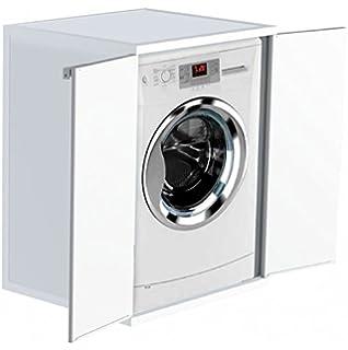 Mueble para lavadoras con dos puertas