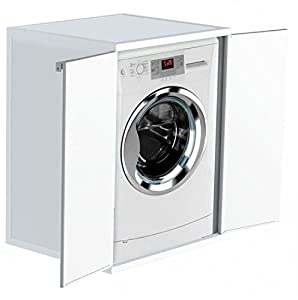 washing machine cover furniture element with two doors kitchen home. Black Bedroom Furniture Sets. Home Design Ideas
