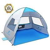 SGODDE Large Pop Up Beach Tent 2019 New Anti UV Sun Shelter Tents
