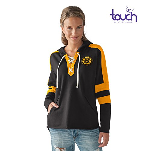 Touch by Alyssa Milano Blueline Hoody, XLG, Black/Gold Xlg Satin