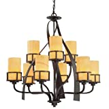 Quoizel KY5009IB 9-Light Kyle Foyer Piece in Imperial Bronze