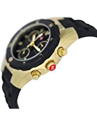 Michele Womans MWW12D000012 Tahitian Jelly Bean Gold Plate Black Watch