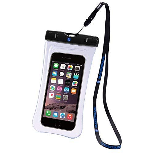 buy popular 4cb75 9a4f4 FLOATABLE waterproof underwater phone case with Lanyard- Double side TPU  Touch ID Unlock for Revvl Plus Huawei P10 Mate 9- Large Universal for  iphone ...