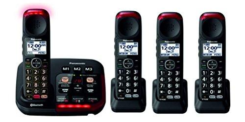 Panasonic KX-TGM430B Bluetooth Amplified Cordless Phone (4 Handsets)