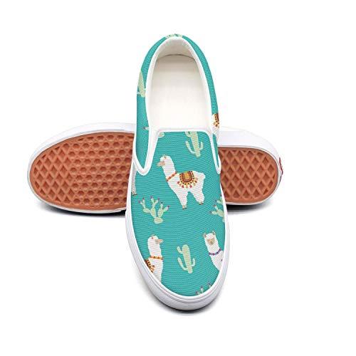 LOKIJM Mens Guys Cactus Llama Alpaca Sneaker Shoes for Mens cool Lightweight Best Running Shoes