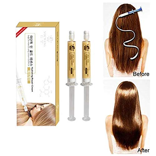(Hair Mask,2 Pcs Moisturizing Professional Dry Damaged Maintenance Keratin Repair Treatment Hair Mask Restores Shine Deep Nourishes Scalp)