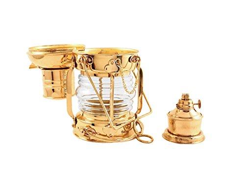 Vermont Lanterns Brass Anchor Lamp - Ship Lantern (10'', Brass)