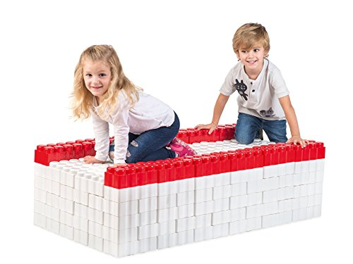 Game Movil Game Movil88245 192 Pieces Giant Blocks Bed, Multi-Color