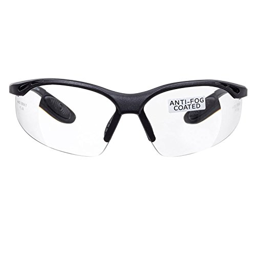 Includes Safety Cord with headstop CE EN166f certified//Cycling Sports Glasses Wraparound Style 3 x voltX CONSTRUCTOR BIFOCAL Reading Safety Glasses Clear +3.0 Dioptre