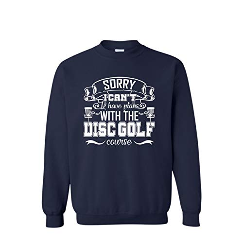 AreFrog Plans with The Disc Golf Courses Crewneck Sweatshirt, Sweatshirt Design XL,Navy (Best Disc Golf Courses In The Us)