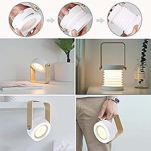 Amazon.com: Lámpara de mesa, portátil y inalámbrica, con ...