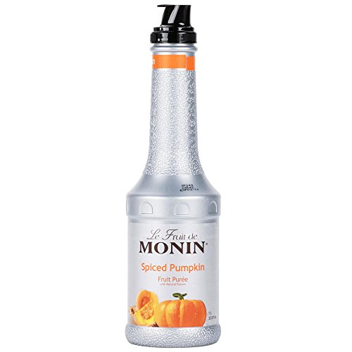 Monin 1 Liter Spiced Pumpkin Fruit Puree Pack of 4 by TableTop King