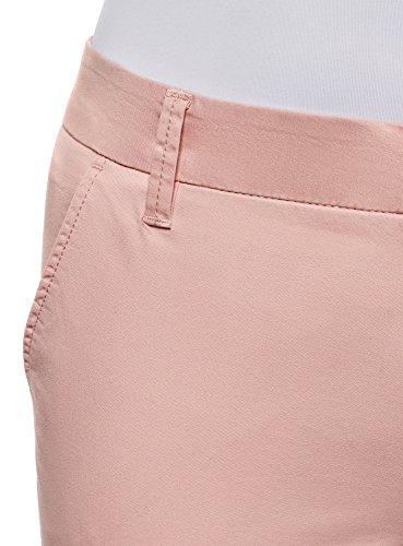 Cotone In Chino Ultra Pantaloni Oodji 4a00n Rosa Donna n6xvgqRC
