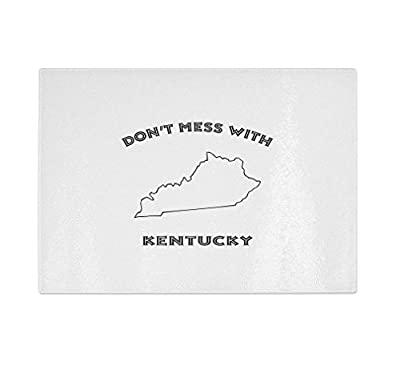 Don'T Mess With Kentucky Kitchen Bar Glass Cutting Board