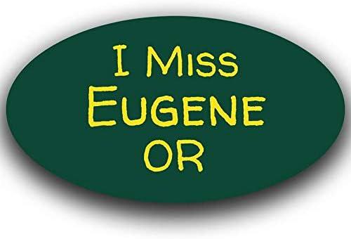 Eugene Oregon Oval Vinyl Decal Sticker City Town College University