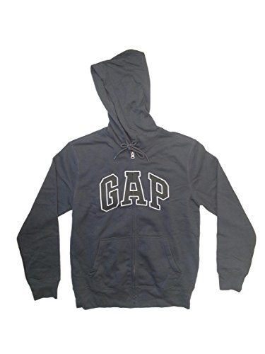 GAP Mens Fleece Arch Logo Full Zip Hoodie ... (XX-Large, New Navy (Black Logo)) (New Mens Gap)