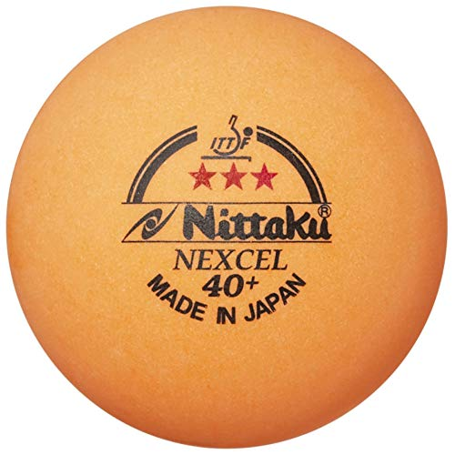 Nittaku Nexcel 12 x 3-Star 40+mm Orange Balls ITTF Approved