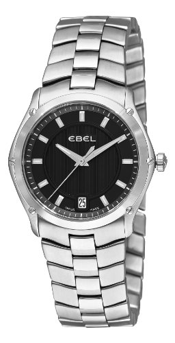 Ebel Women's 9954Q31/153450 Classic Sport Black Dial Watch
