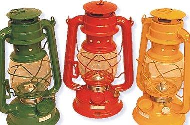 Nostalgie Petroleumlampe 31 cm hoch Sturmlaterne Notlicht