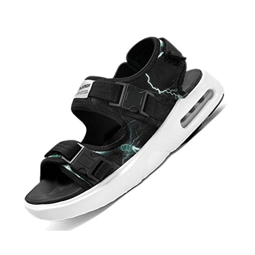 Hombres Frescas Negro Nuevos Verano Coreana Salvaje Sandalias Hombres Tendencia Personalidad Playa 2018 De Zapatos Sandalias De Sandalias Casuales Los Deportivas awHxq5B
