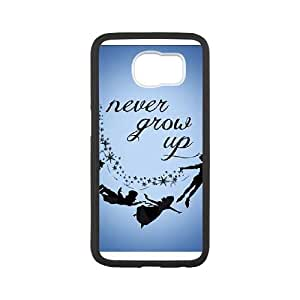 samsung galaxy s6 phone case Black for peter pan silhouette never grow up - EERT3390792