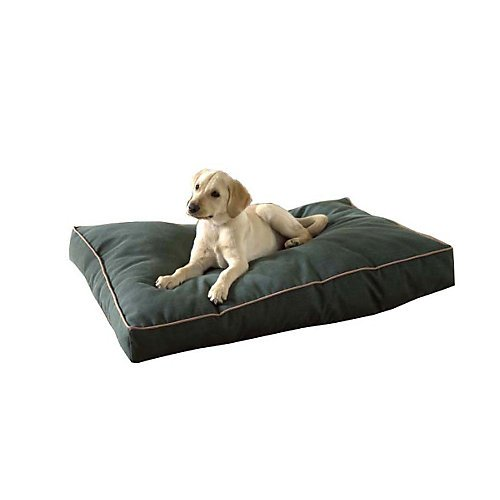 Carolina Pet Jamison Indoor/Outdoor Faux Gusset Bed for Pets, Green/Tan, (Gusset Jamison Pet Bed)