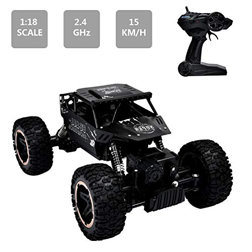 e Control Car Trucks Kids' Electronics Hobby RC Crawlers Electric Racing Car Buggy Play Vehicles Children's Toy 1:18 Scale 2.4GHz 50M 4WD ()