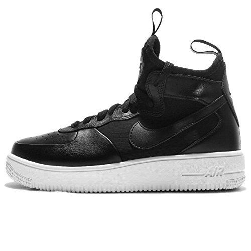 Zapatillas Mujer Negro W Nike Gimnasia para Force Mid White Air Black Black de 1 Ultraforce PHAwAYqv