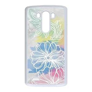 LG G3 Cell Phone Case White Spring Watercolors Fqjjm